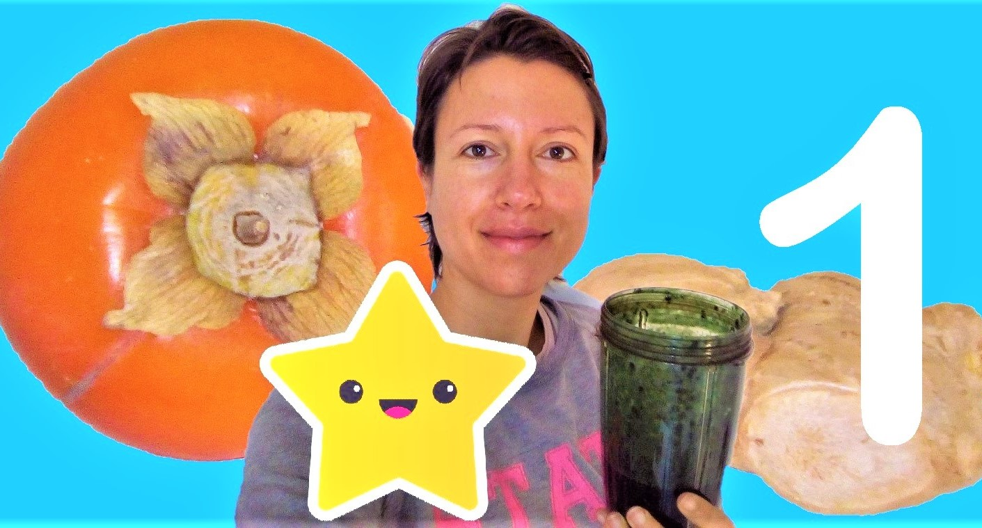 Great smoothies for autumn series: persimon, ginger and spirulina - episode 1 - Claire Samuel