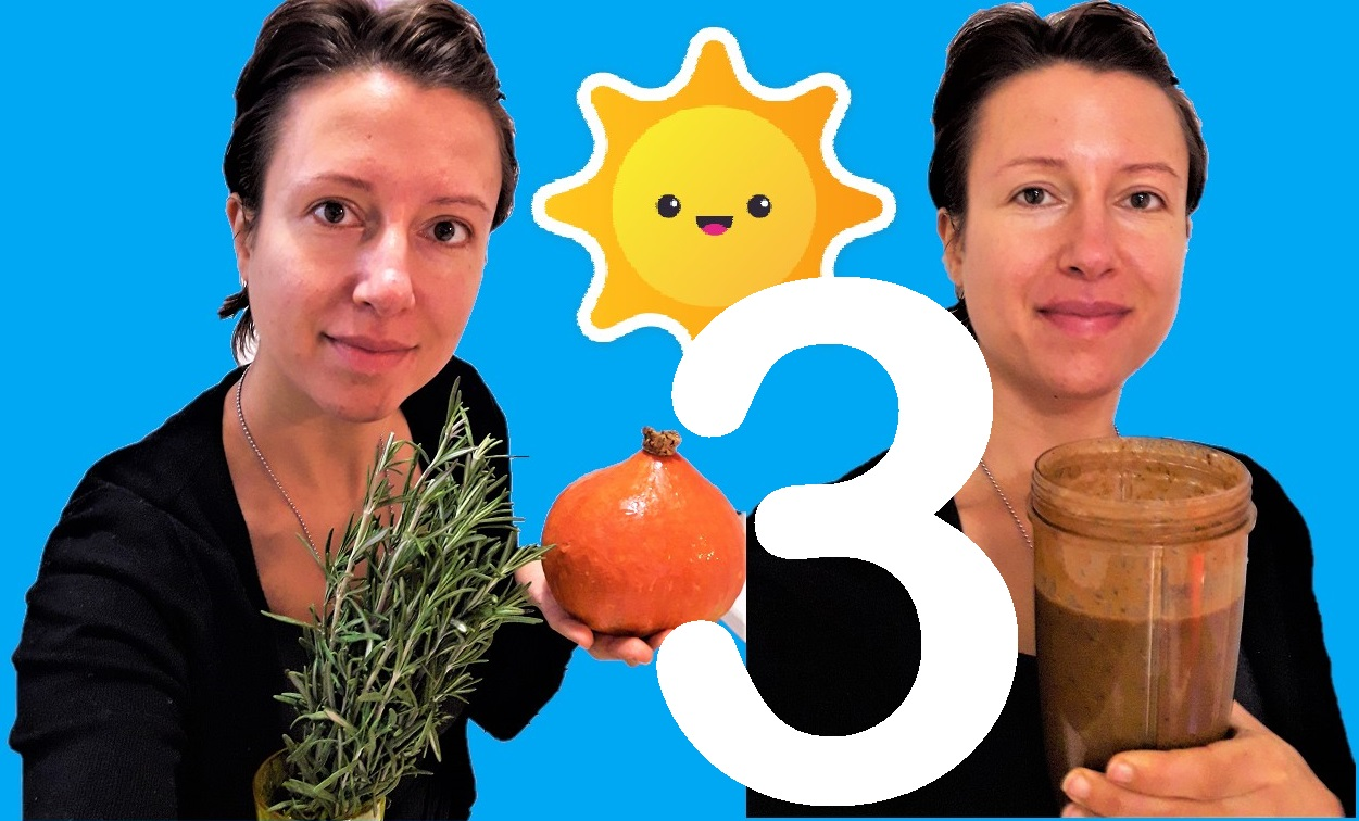 Great #smoothies for #autumn Series: pumpkin, rosemary and carob - episode 3 - Claire Samuel