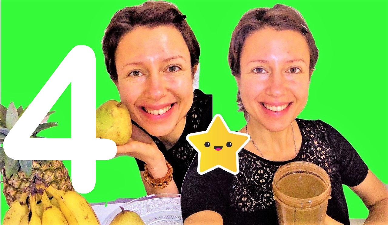 Great #smoothies for #autumn Series: pear, pineapple, green powder and carob - episode 4 - Claire Samuel