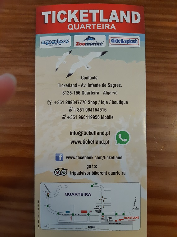 Please find below all the details about TicketLand in Quarteira.