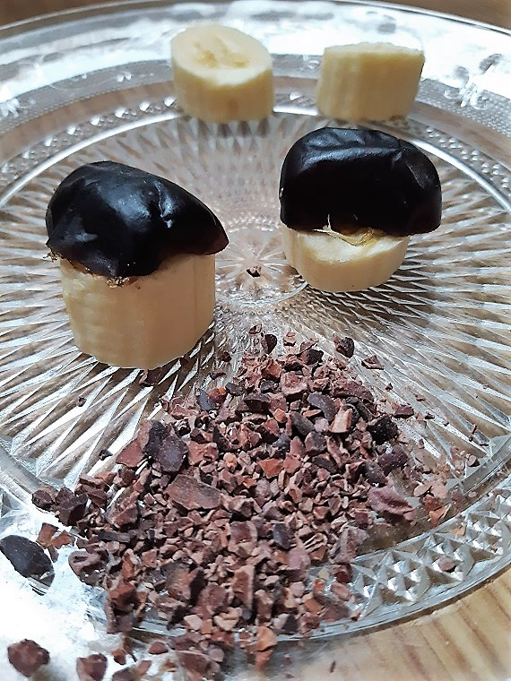 One ecstatic #dessert two people and three raw vegan ingredients