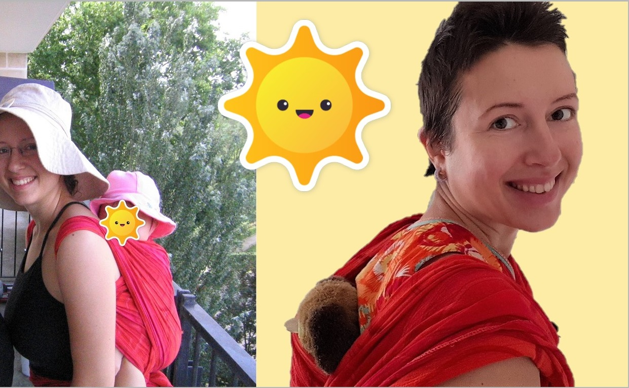 How to carry a baby on the back? #babywearing demo