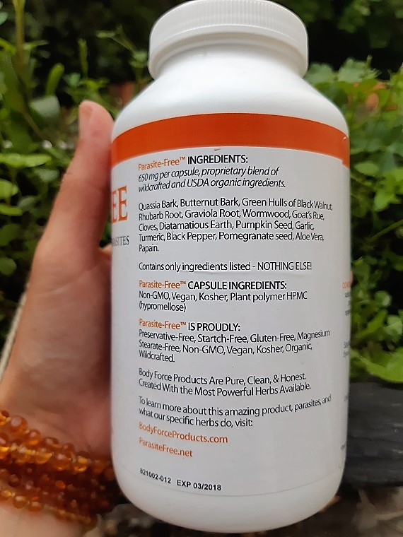 Comparison between the plants used in BodyForce and NaturalSwiss parasite cleanses