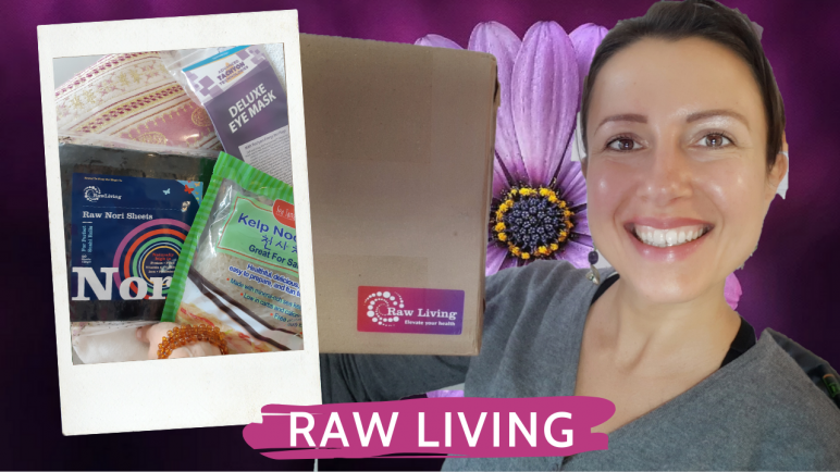 #Unboxing Raw Living number 8 or deluxe Tachyon eye mask and #seaweed kelp and nori
