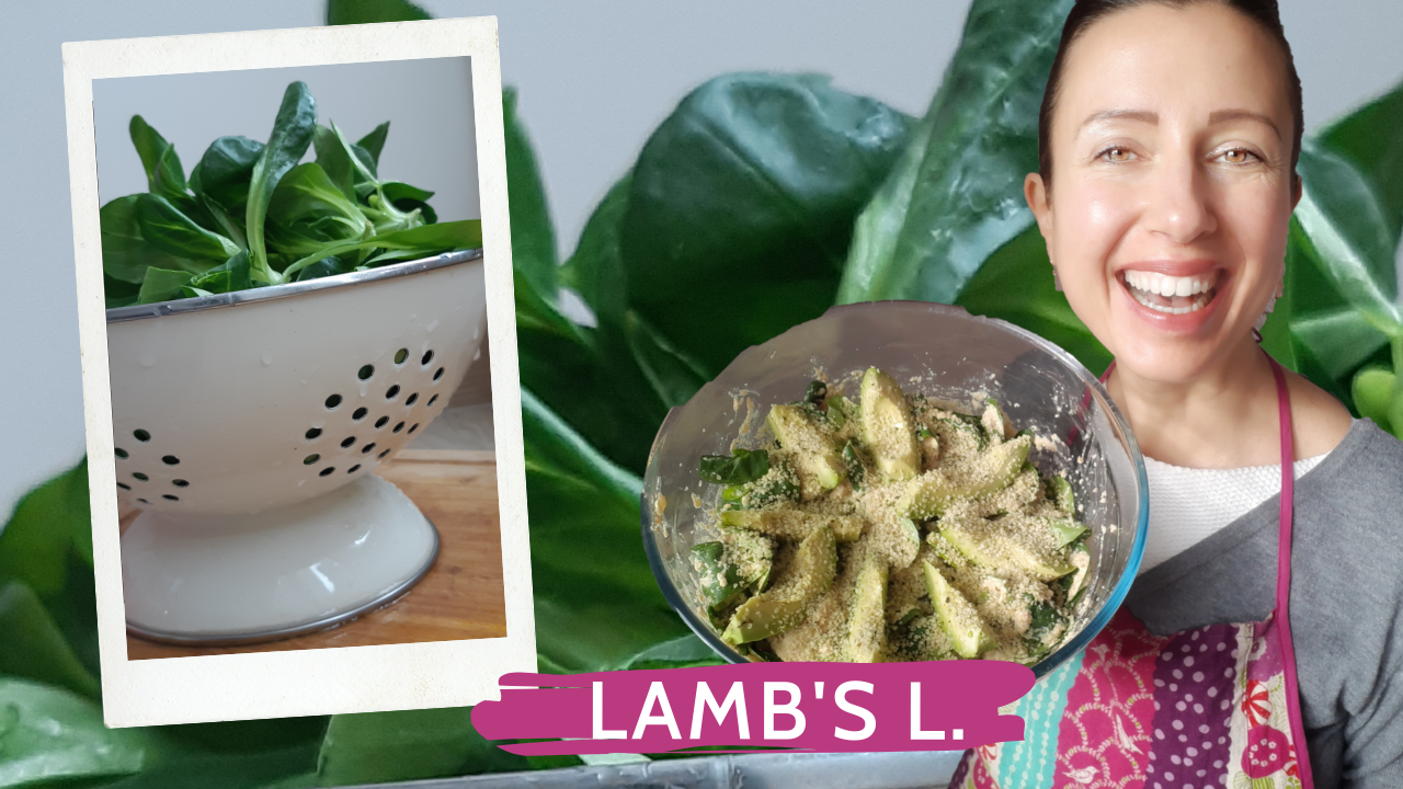 Lambs lettuce with a special winter dressing raw recipe for long cold days and a happy heart