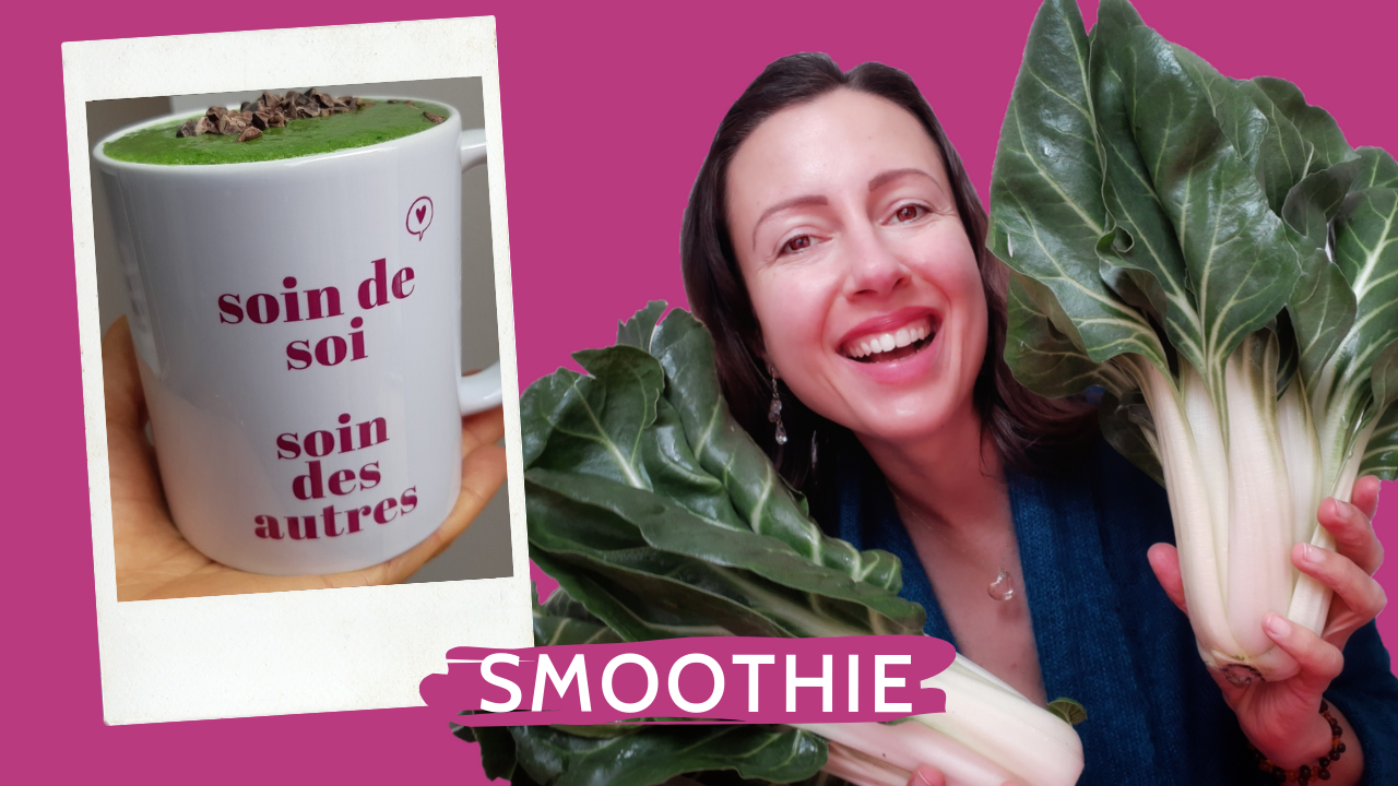 Swiss chard smoothie for days spent at home and yes you can use chard in a green smoothie