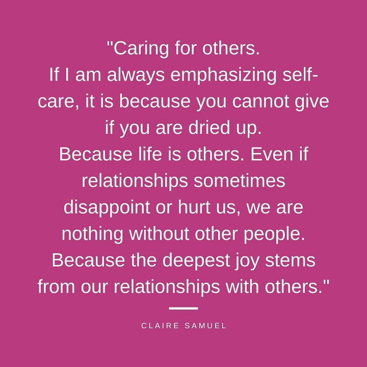Self care and care for others