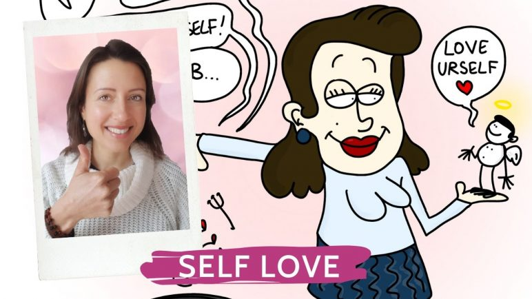 Four-handed creation with cartoonist and illustrator Romano to inspire you to really love yourself