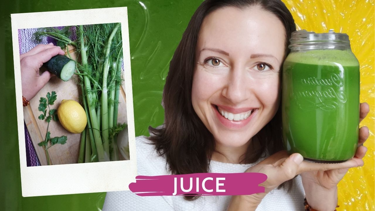 4 ingredients for a green juice