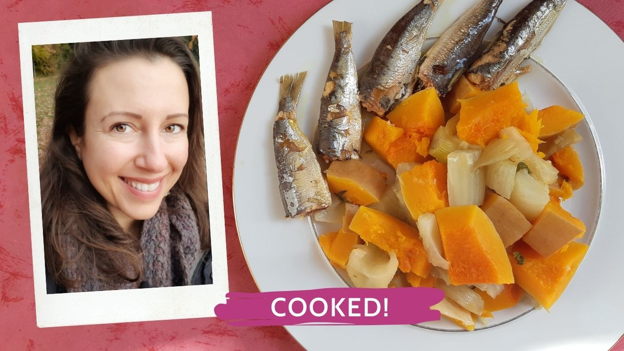 How do you cook your vegetables and sardines?