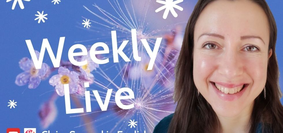 weekly live stream claire samuel in english