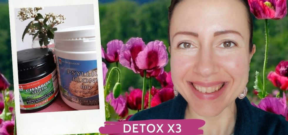 Intestines Detox with activated charcoal clay psyllium
